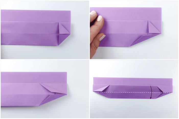 tuto de pliage papier facile pour réaliser une jolie barque en papier qui sert aussi d'un bol