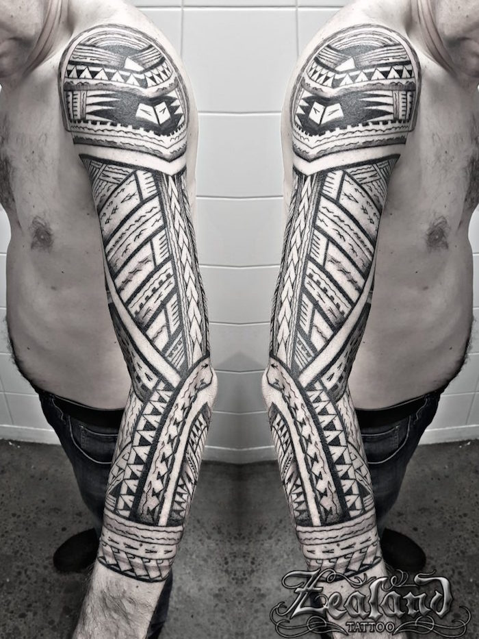 tatouage bras tribal tattoo manche tahitien maori