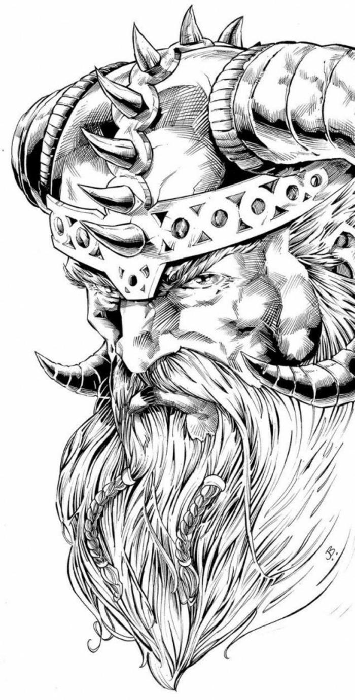 Ecriture viking tatouage symbole viking idée tatouage