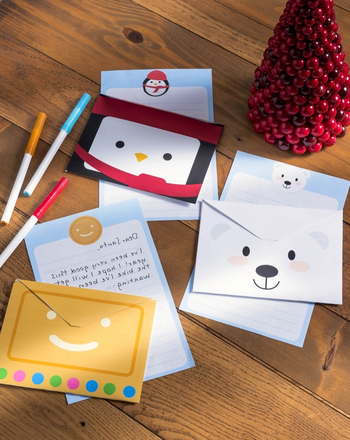 pliage enveloppe, activité manuelle pour enfants, modèles d'enveloppes DIY à design animal