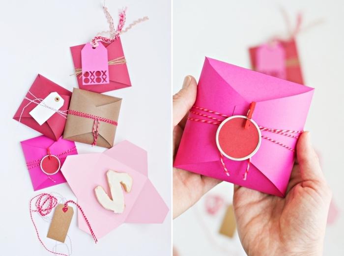 pliage enveloppe, idée comment faire une petite enveloppe en papier coloré avec techniques de pliage