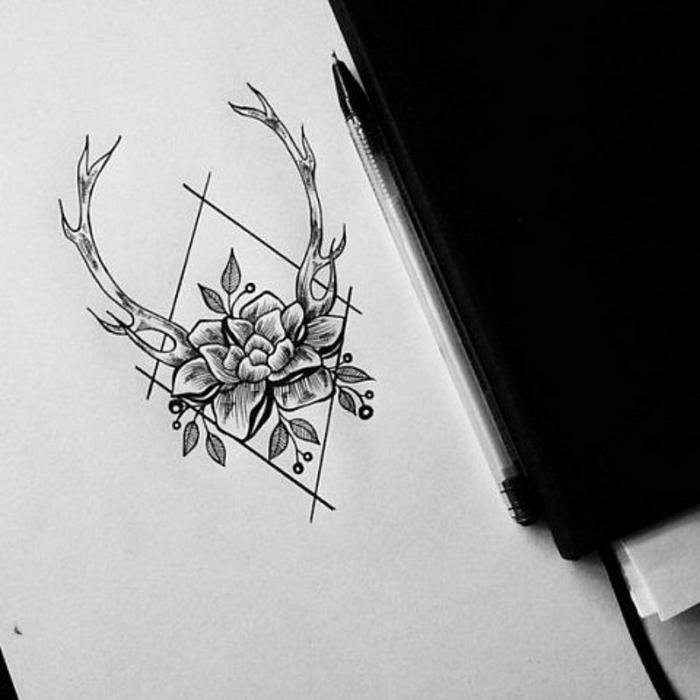 Tatouage les plus beau du monde tatouage montagne fleurs tatouages dessin