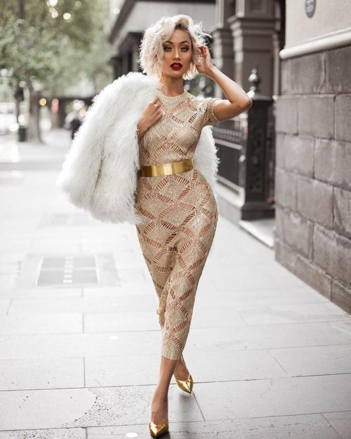 Etre une femme bien habillée tenues de soirée femme robe moullant