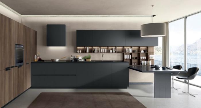 ▷ 1001 + exemples sublimes de la cuisine noire et bois
