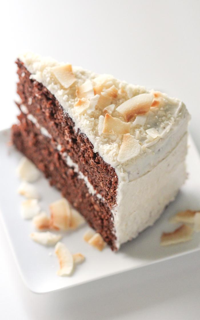 recette de gateau facile et rapide, gâteau au chocolat et à la noix de coco en version saine