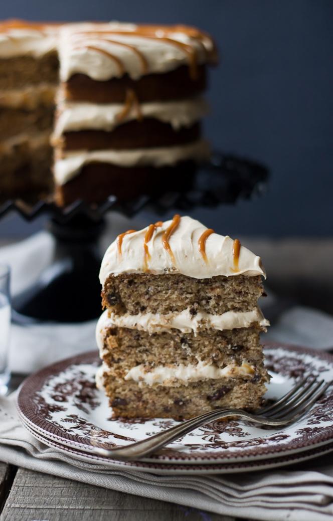 gâteau au chocolat facile fait maison aux bananes et à la crème dulce de leches