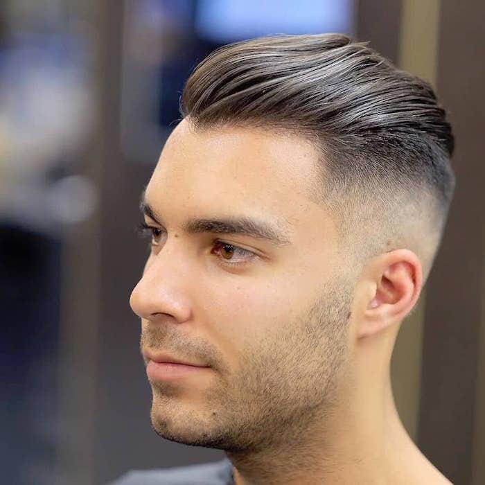 coupe de cheveux homme en arriere