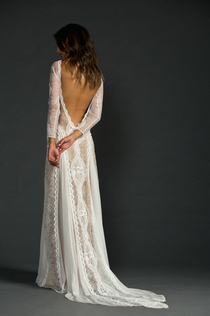 Bohème robe longue manche longue tenue festival robe blanche manche longue