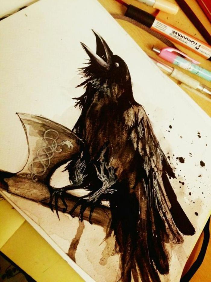 Tattoo aigle de sang tatouage viking signification tatouage cool oiseau viking