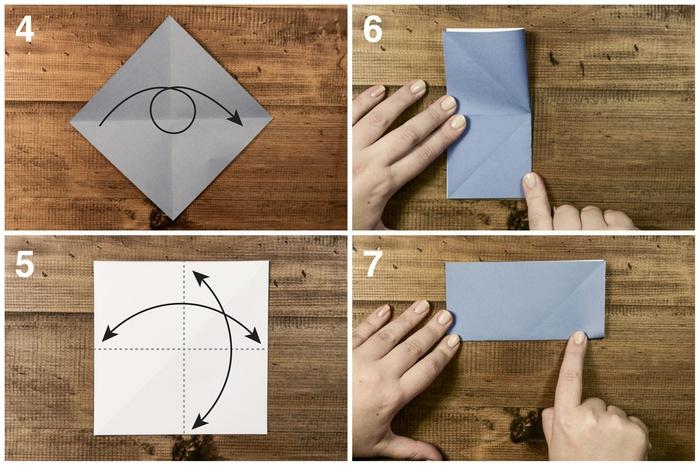 idées de pliage origami pour fabriquer des modèles de bateaux en papier, instructions de pliage d'un modèle d'origami bateau à voile