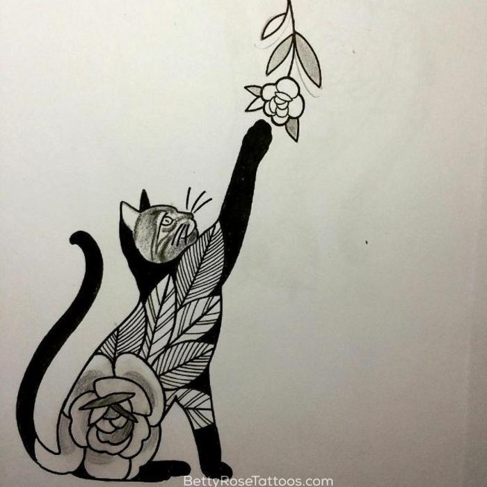 Plus beau tatouage catalogue de tatouage homme idées chaton cool dessin pour tatouage