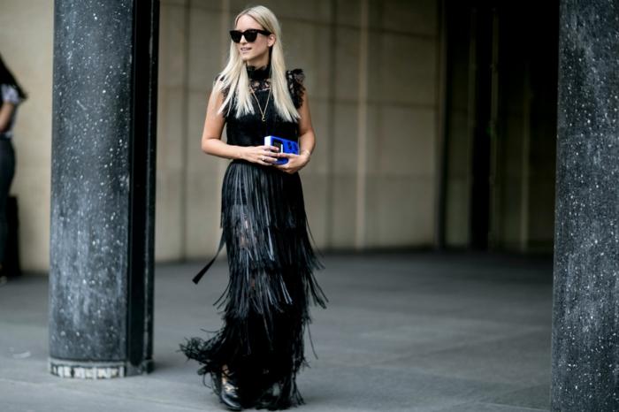 Superbe robe de soirée longue tenue chic femme moderne