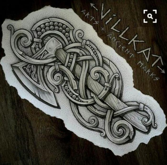 Rune viking signification tatouage signifiant la force