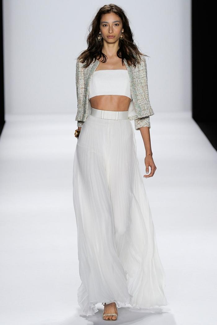Etre une femme bien habillée tenues de soirée femme jupe longue top courte veste vintage cool tenue de soirée élégante femme