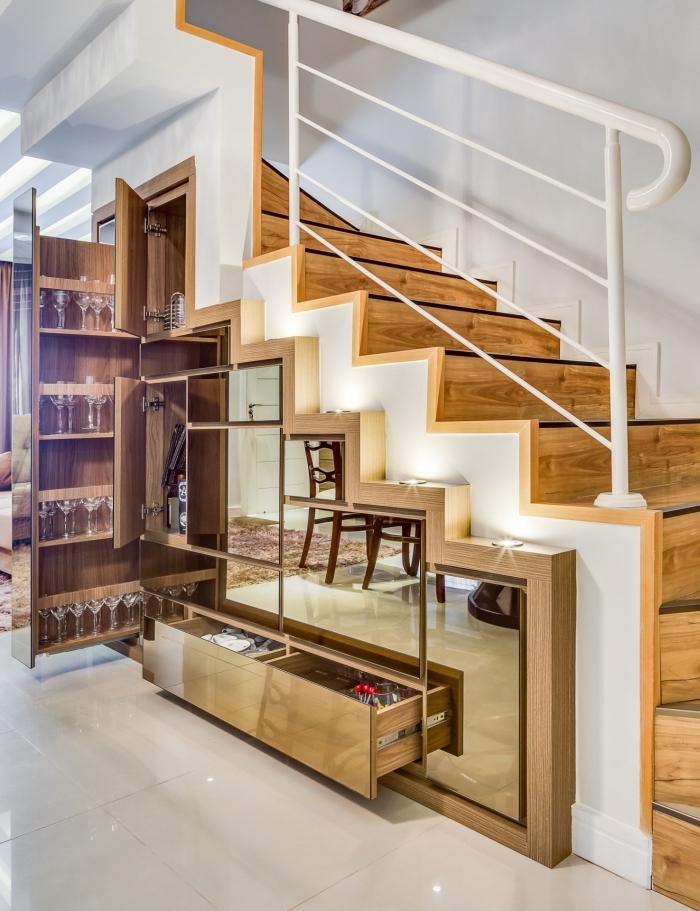 amenagement dessous escalier good amenagement sous escalier with amenagement dessous escalier. Black Bedroom Furniture Sets. Home Design Ideas