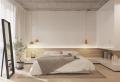 Ambiance sereine et relaxante dans la chambre blanche et beige