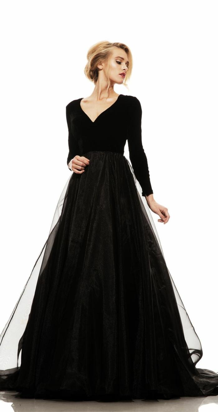 Pratique robe longue de soirée robes soirée chic moderne robe noire belle