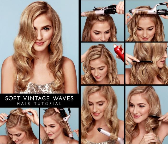 tutoriel pour réaliser une coiffure naturelle avec boucles sur cheveux longs de couleur blond miel