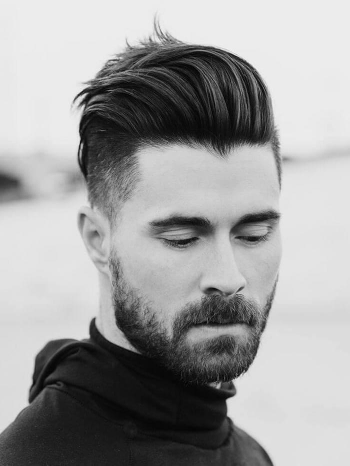 coupe hipster barbe dégradé homme courte