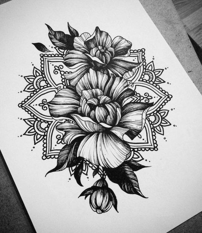 Image Tatouage Dessin Fleur Kolorisse Developpement