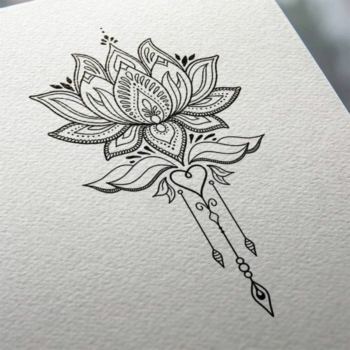 Beaux tatouages idée quel sont les plus beaux tatouages lotus adorable dessin