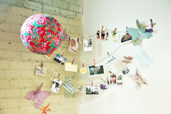 idée déco avec photo pour la chambre ado aux murs blancs, que faire avec les photos projet créatif
