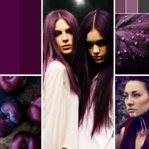 La coloration phare de 2021 - les cheveux prune