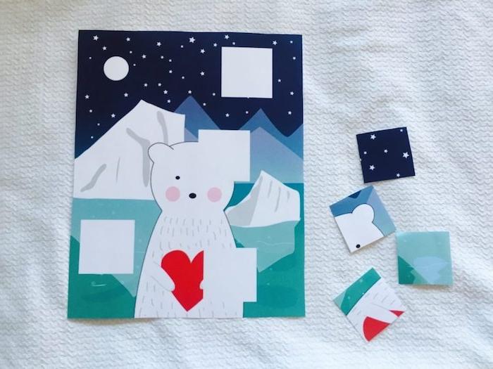 puzzle enfant selon le principes montessori, retrouver les pièces manquantes, activite enfant 3 ans facile