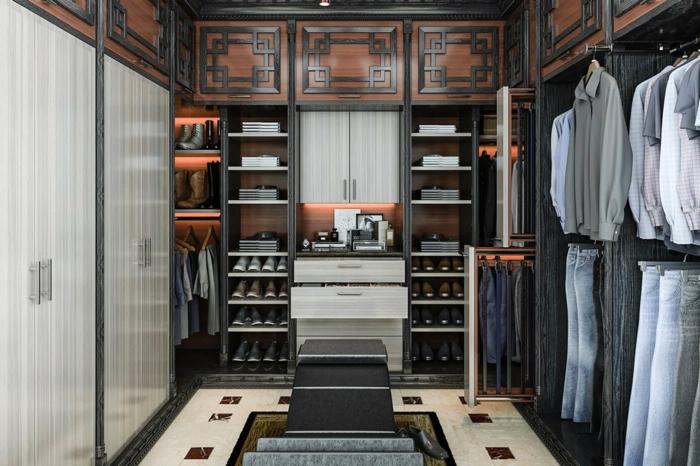 placard chambre, aménagement élégant, rangement de chaussures élégant