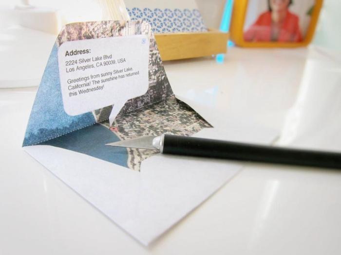 comment faire une enveloppe en papier, modèle d'enveloppe blanche à design carte
