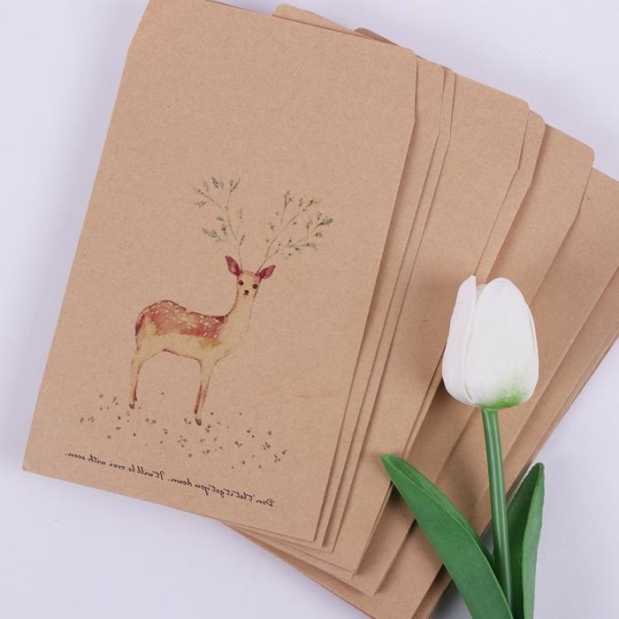 comment faire une enveloppe en papier, modèle d'enveloppe en papier recyclé avec dessin à design animal
