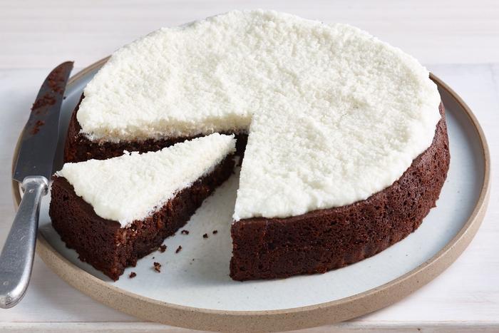 recette fondant au chocolat facile et sans gluten à la couche de noix de coco
