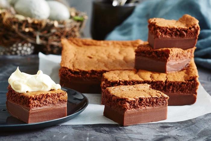 comment faire un gateau au chocolat magique; recette de gâteau magique à trois textures différentes