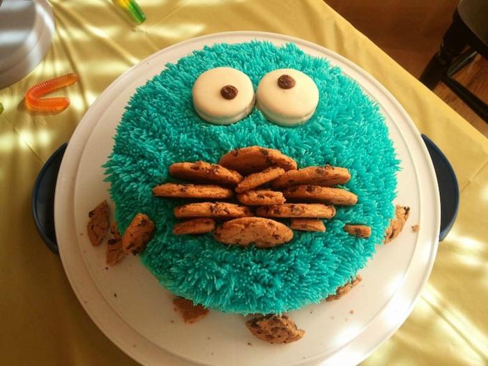 Les gateaux les plus originaux un gateau anniversaire cookie monster