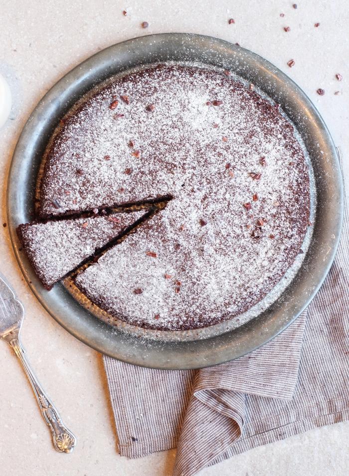 recette de gateau au chocolat moelleux à l'huile d'olive et au chocolat sans beurre