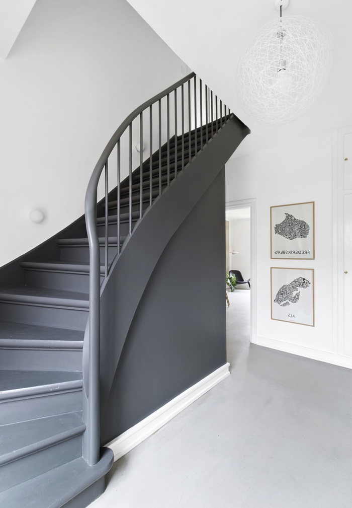escalier bois blanc et gris amazing escalier with escalier bois blanc et gris good best. Black Bedroom Furniture Sets. Home Design Ideas