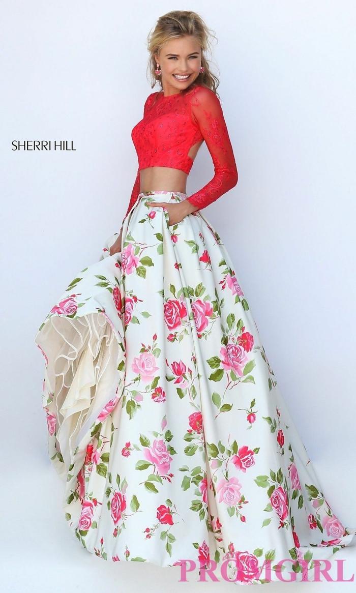 Mode robe longue pas cher robe d hiver idée tenue tendance jupe et top habillée robe manches dentelle