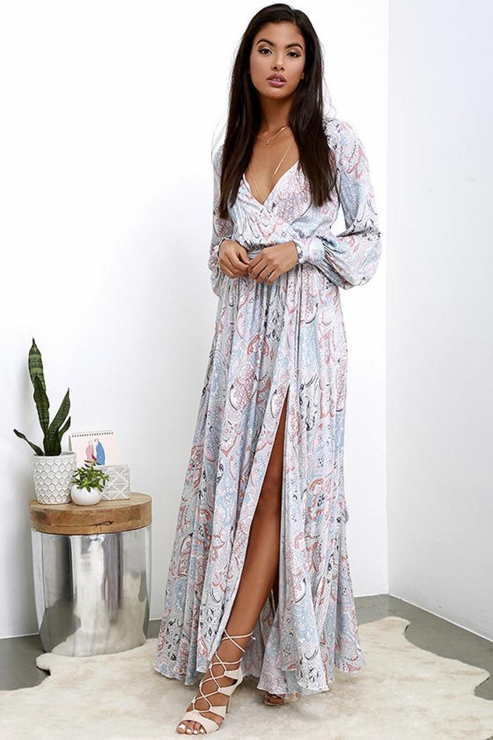 Pratique robe longue de soirée robes soirée chic moderne