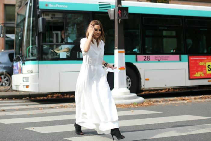 Idée de robe blanche manche longue comment s habiller