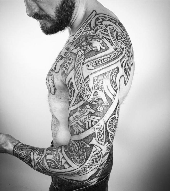 Tatouage Vikings La Force Nordique Tattoome Le Fit Slim