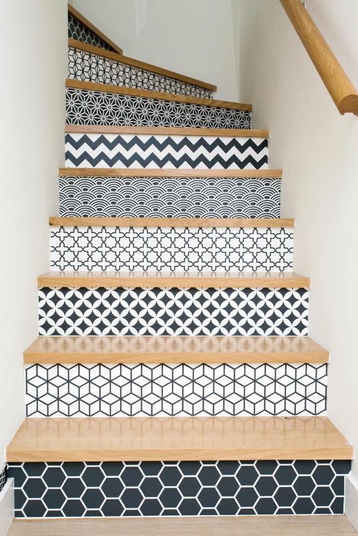 1001 id es pour r aliser une d co mont e d 39 escalier originale. Black Bedroom Furniture Sets. Home Design Ideas