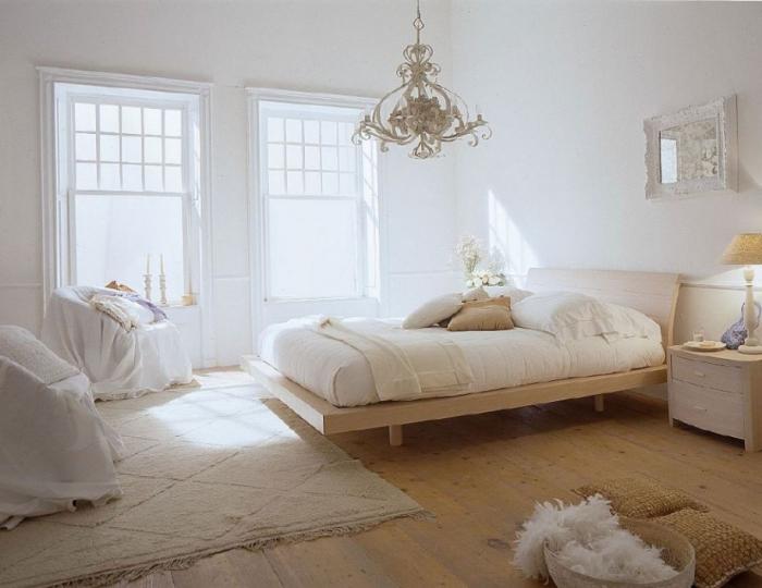 Superbe Ambiance Sereine Et Relaxante Dans La Chambre Blanche Et Beige ...