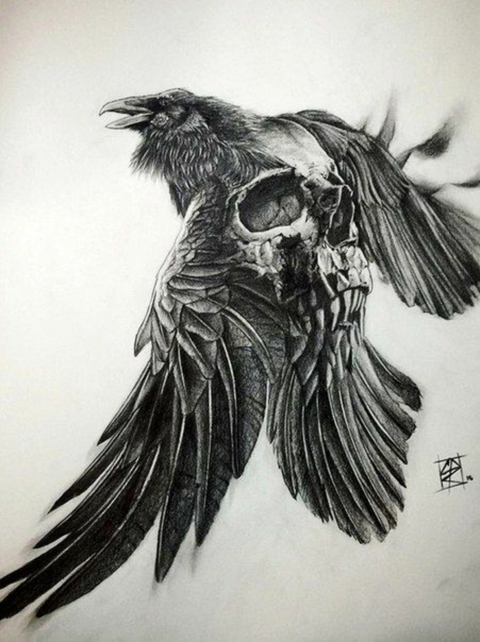 Quel symbole famille tatouage idée tatouage homme aigle et crane tatouage effrayant