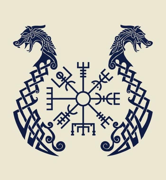 Tatouage symbole force symbole islandais cool tattoo