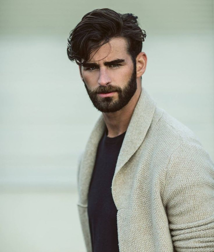 Coiffure homme brun best coupe homme tendance coup pour - Taille barbe 10 jours ...