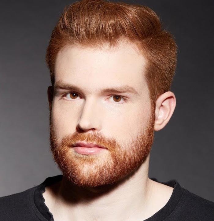 avoir une belle barbe rousse mi longue avec coiffure tendance homme
