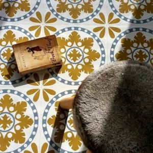 Le sol vinyle imitation carreau de ciment - les sols vintage remis au goût du jour