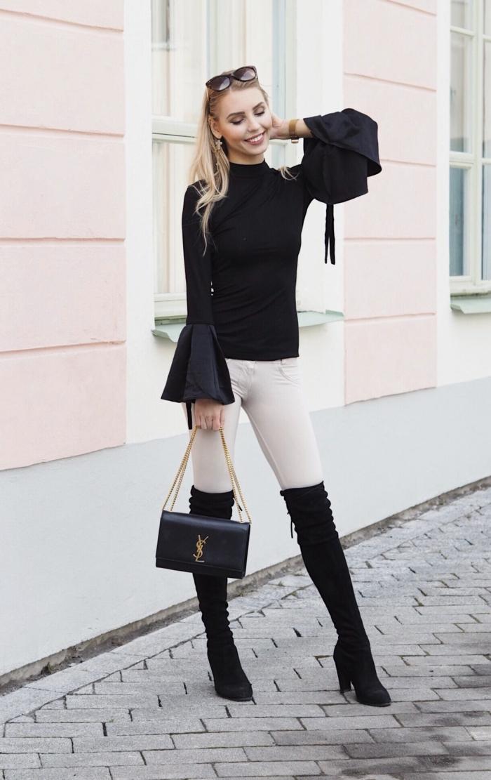 Superbe robe de soirée longue tenue chic femme moderne pantalon blanc cuissards