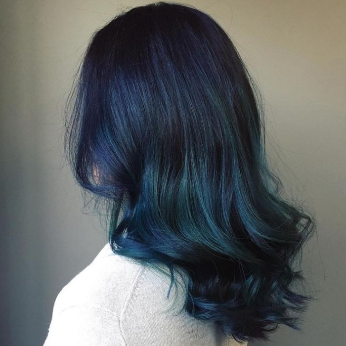 1001 id es comment l 39 adopter la technique tie and dye bleu - Tie and dye cheveux boucles ...