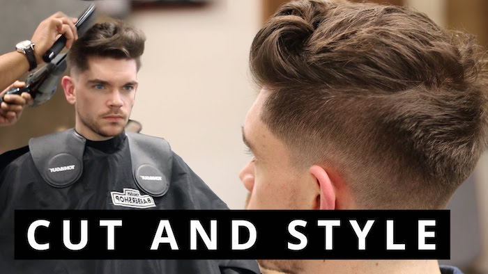 coupe homme hipster et pompadour coiffure banane à boucles